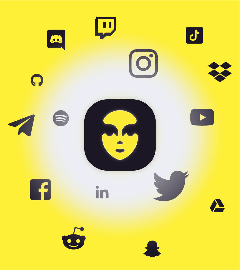 All your social medias with sellby app